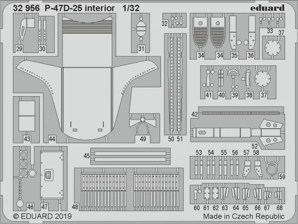 Eduard 32956 P-47D-25 interior 1/32 HASEGAWA