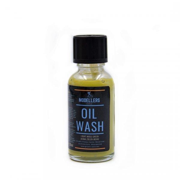 Modellers World MWW003 Oil Wash: Jasna zieleń mchu (Bright green moss) 30ml