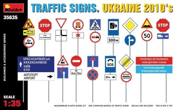 Miniart 35635 TRAFFIC SIGNS. UKRAINE 2010's 1/35