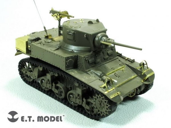 E.T. Model E35-280 U.S. M3 STUART Light Tank(Late Production) (For TAMIYA 35360) 1/35