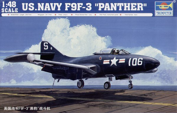 Trumpeter 02834 US.NAVY F9F-3 PANTHER (1:48)