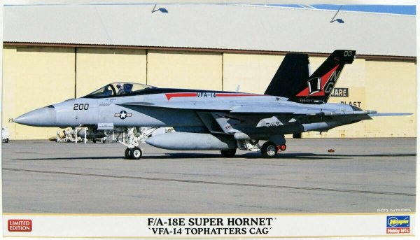 """Hasegawa 02309 F/A-18E Super Hornet """"VFA-14 Top Hatter's CAG"""" 1/72"""