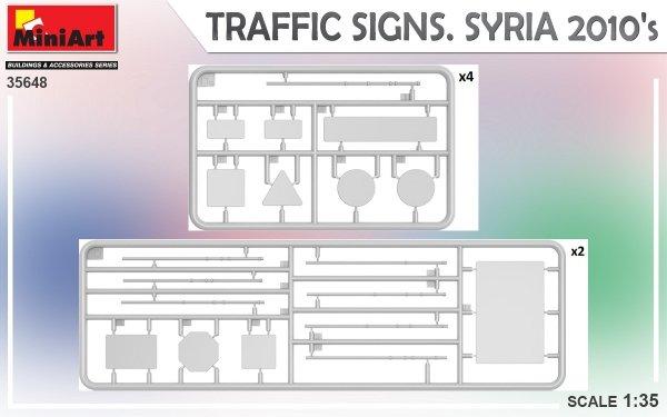 Miniart 35648 TRAFFIC SIGNS. SYRIA 2010's 1/35
