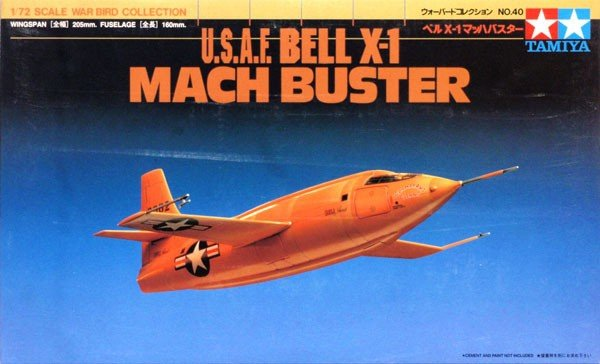 Tamiya 60740 U.S.A.F Bell X-1 Mach Buster (1:72)