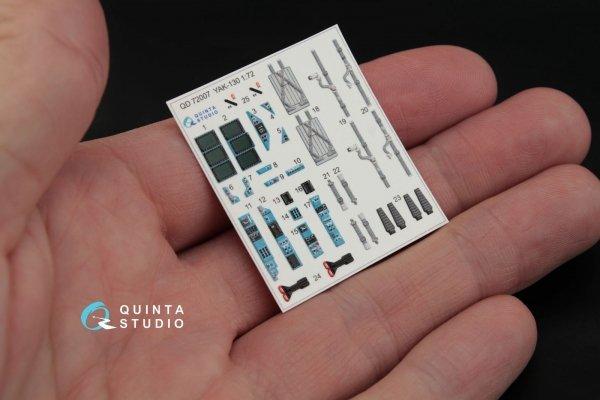 Quinta Studio QD72007 Yak-130 3D-Printed & coloured Interior on decal paper (for Zvezda kit) 1/72