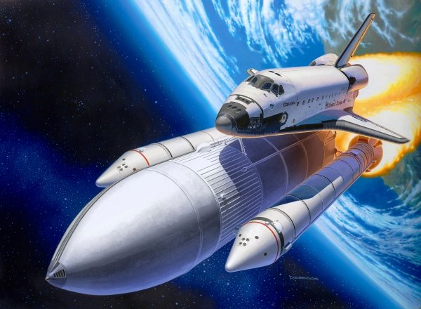 Revell 05674 Space Shuttle & Booster Rockets - 40th Anniversary 1/144