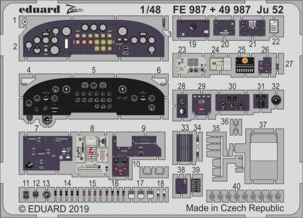 Eduard FE987 Ju 52 1/48 REVELL
