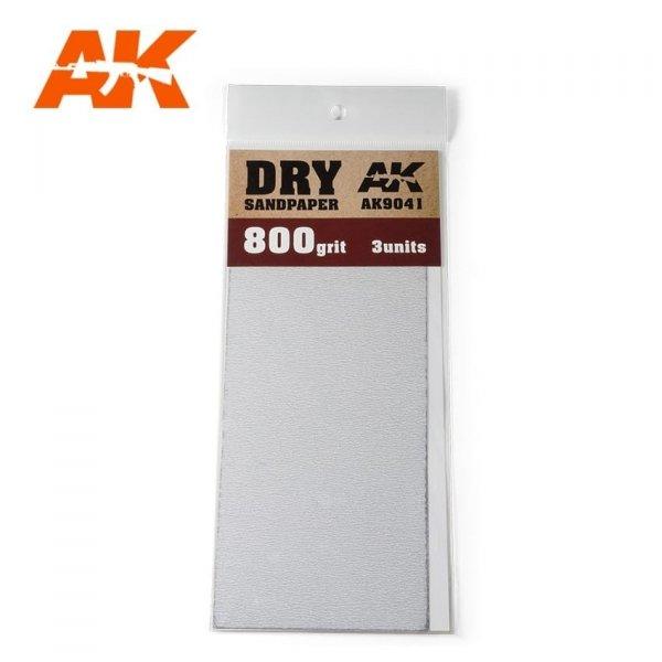 AK Interactive AK 9041 DRY SANDPAPER 800