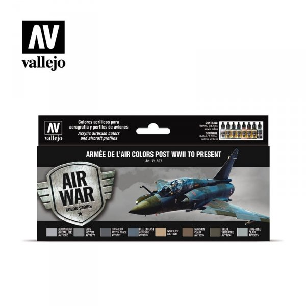 Vallejo 71627 Armée de l'Air colors post WWII to present 8x17ml