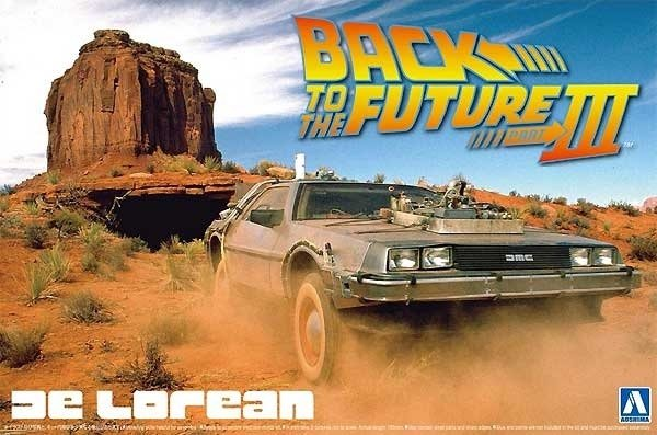 Aoshima 05918 Back to the Future III DeLorean 1/24
