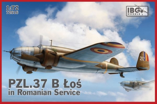 IBG 72516 PZL 37B Łoś in Romanian service 1/72