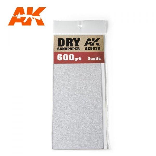 AK Interactive AK 9039 DRY SANDPAPER 600