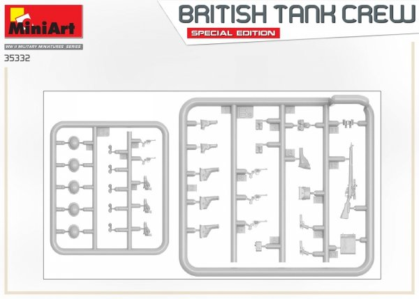 Miniart 35332 BRITISH TANK CREW. SPECIAL EDITION 1/35