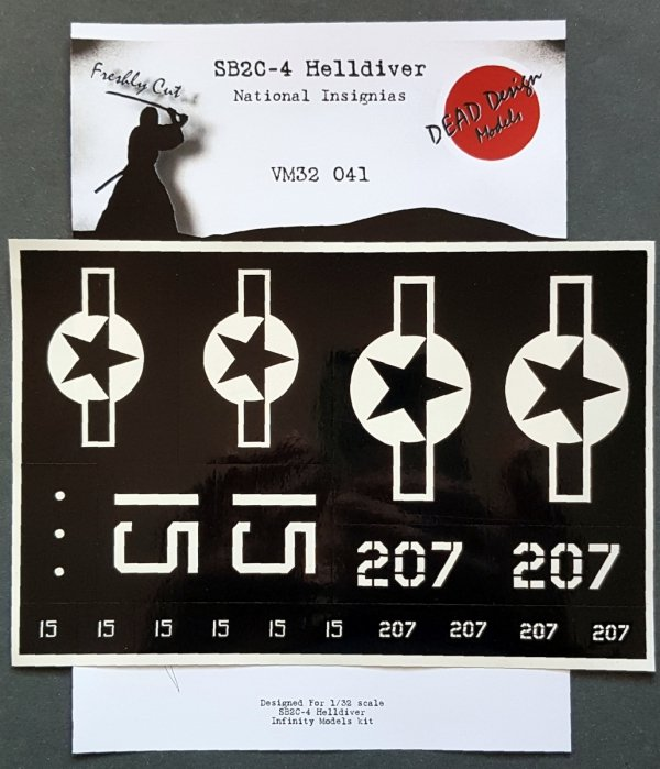 Infinity Models VM32041 SB2C-4 Helldiver National Insignias masks 1/32