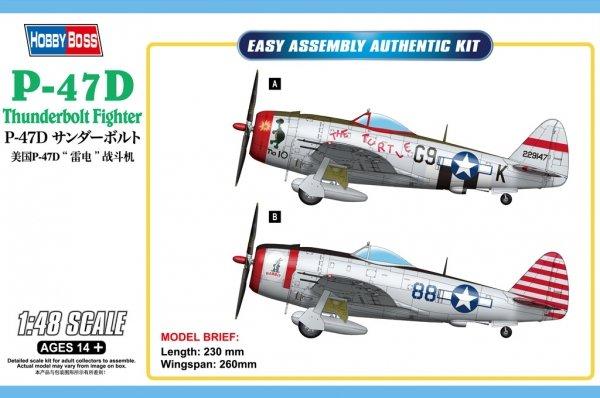 Hobby Boss 85811 P-47D Thunderbolt Fighter 1/48