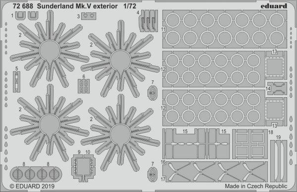 Eduard 72688 Sunderland Mk. V exterior 1/72 SPECIAL HOBBY