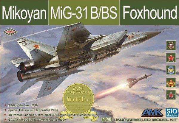 SIO Models K48002 Mikoyan MiG-31 B/BS Foxhound 1/48