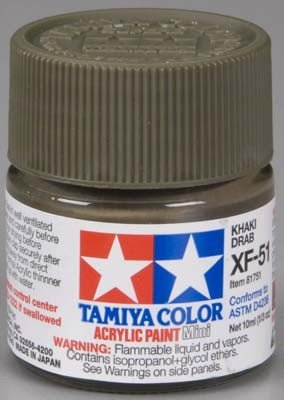 Tamiya XF51 Khaki Drab (81751) Acrylic paint 10ml