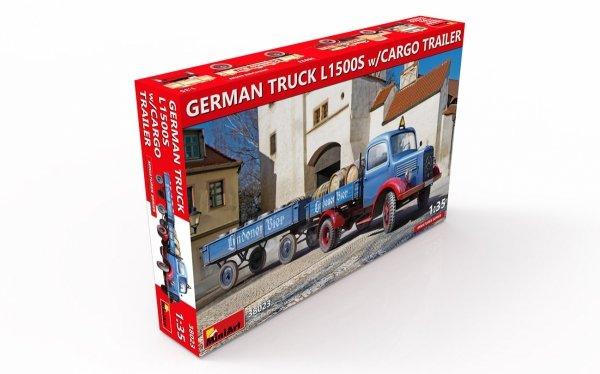 MiniArt 38023 GERMAN TRUCK L1500S w/CARGO TRAILER 1/35