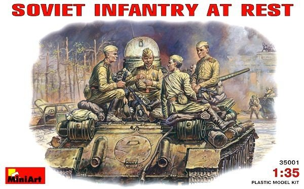 MiniArt 35001 SOVIET INFANTRY AT REST (1943-45) (1:35)