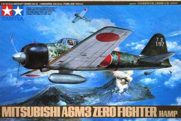 Tamiya 61025 A6M3 Type 32 Zero Fighter (Hamp) (1:48)