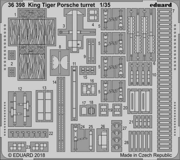 Eduard BIG3594 King Tiger Porsche 1/35 MENG