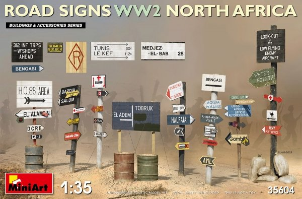 MiniArt 35604 Road Signs WW2 North Africa 1/35