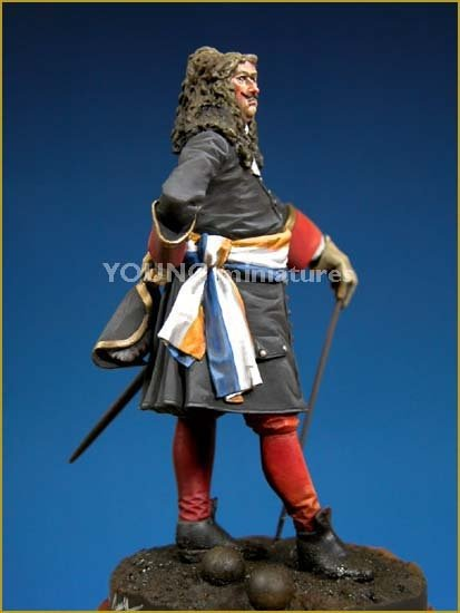 Young Miniatures YH7005 Holland Officer of Artillery, 1705 70mm