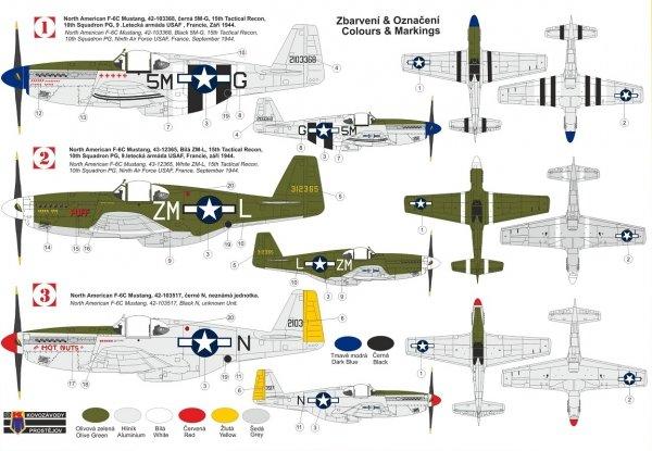 "Kovozavody Prostejov KPM0248 F-6C ""Photo-recce Mustang"" Malcolm 1/72"