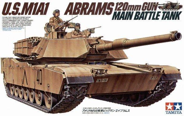 Tamiya 35156 U.S. M1A1 Abrams 120mm Gun Main Battle Tank (1:35)