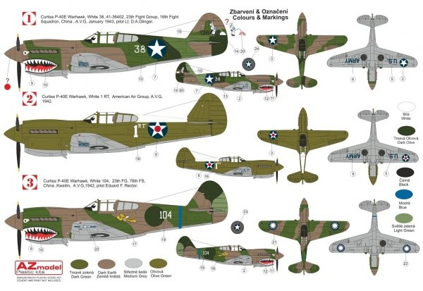 """AZ Model AZ7696 P-40E Warhawk """"AVG"""" 1/72"""