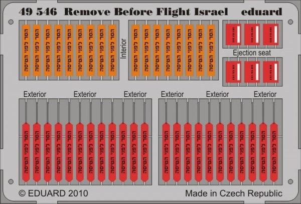 Eduard 49546 Remove Before Flight - Israel 1/48