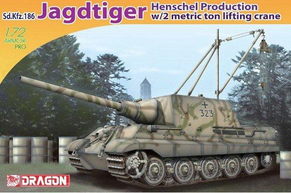 Dragon 7345 Jagdtiger /Henschel w. Crane (1:72)