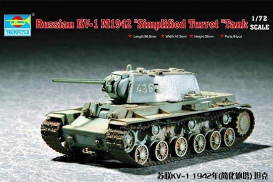 Trumpeter 07234 Russia KV-1(Model 1942) Simplified Turret Tank (1:72)