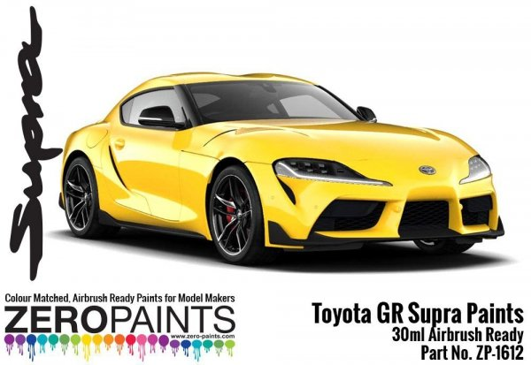 Zero Paints ZP-1612-LY Toyota GR Supra Lightning Yellow Paint 30ml
