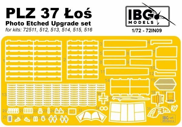 IBG 72IN09 PZL 37 Łoś Upgrade set 1/72