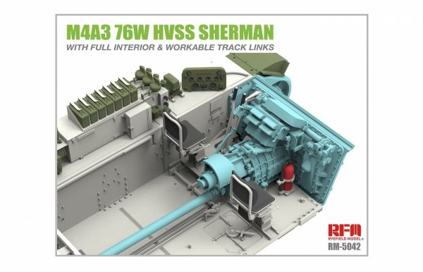 Rye Field Model 5042 M4A3 76W HVSS Sherman With full interior 1/35