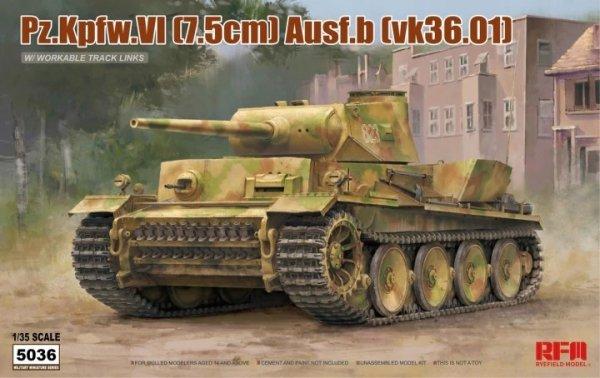 Rye Field Model 5036 Pz.Kpfw.VI (7,5cm) Ausf.B (VK36.01) w/ workable track links 1/35