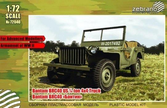 Zebrano 72040 Bantam BRC-40 US 1/4-ton 4x4 Truck 1/72