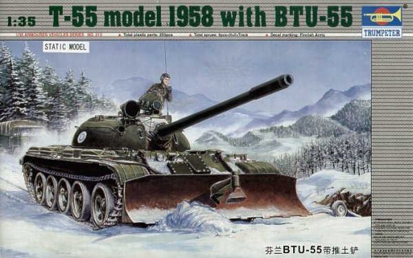 Trumpeter 00313 T-55 model 1958 with BTU-55 (1:35)
