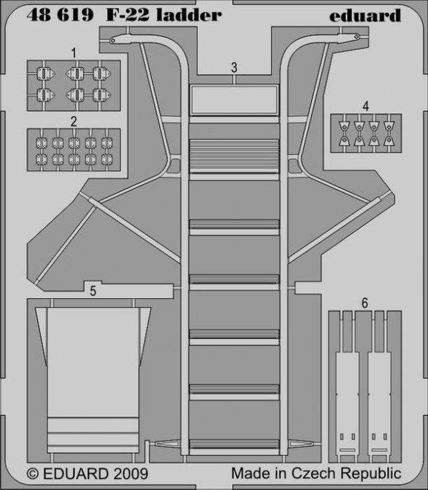 Eduard 48619 F-22 ladder 1/48 ACADEMY