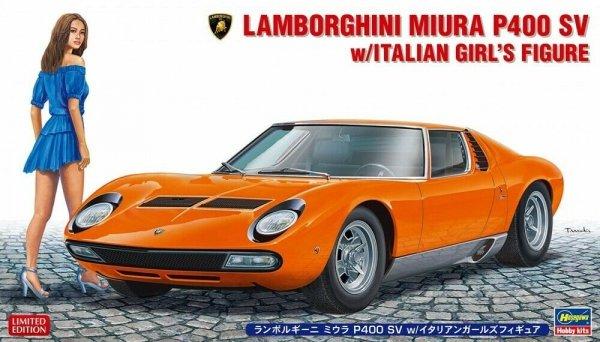 Hasegawa 20423 Lamborghini Miura P400 SV w/Italian Girl's Figure 1/24