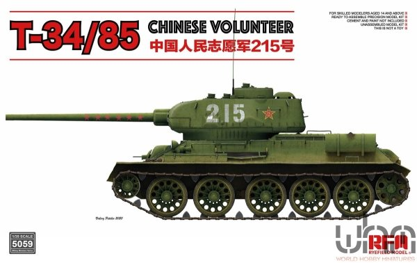 Rye Field Model 5059 Soviet T-34/85 Chinese Volunteer 215 1/35