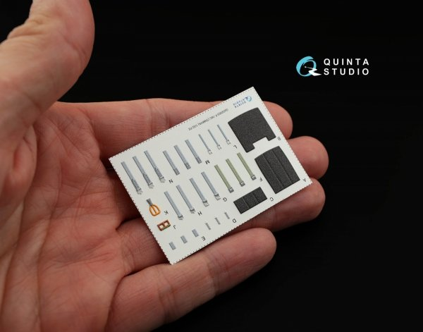 Quinta Studio QD32003 F-16C 3D-Printed & coloured Interior on decal paper (for Tamiya kit) 1/32