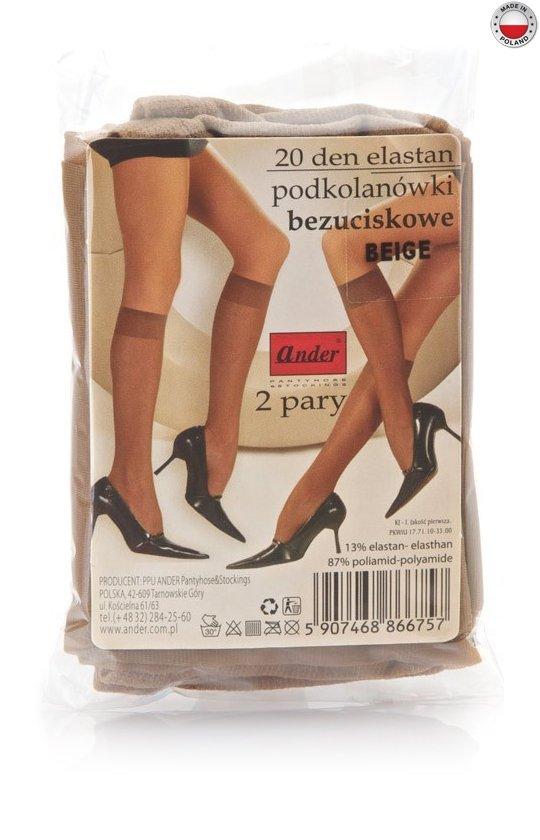 podkolanówki ELASTAN woreczek - beige