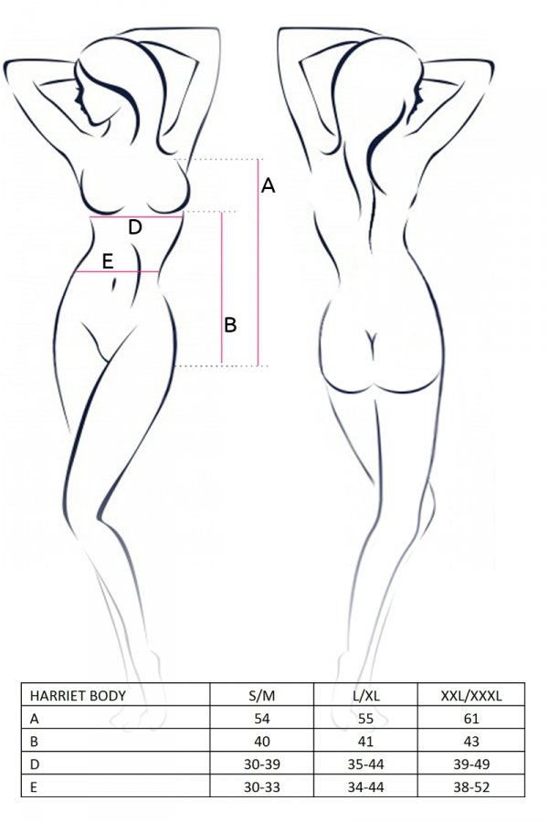 HARRIET BODY czarne body