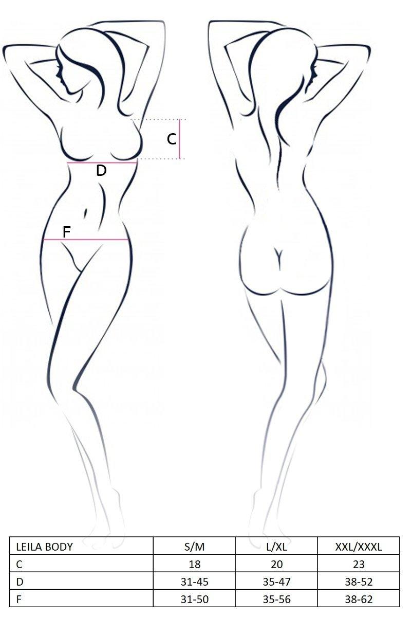 LEILA BODY czarne body