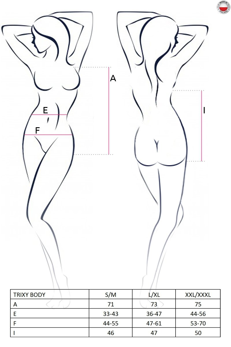 TRIXY BODY czarne body
