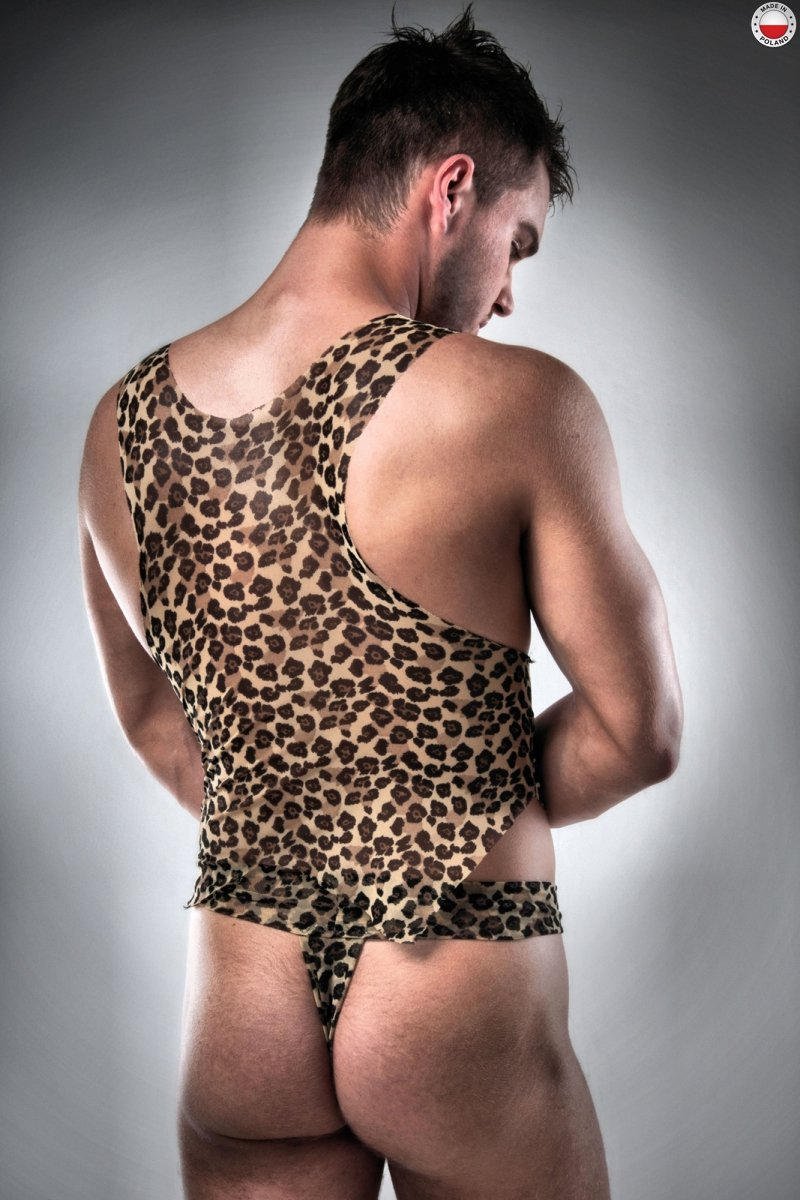 023 SET beżowy kostium męski