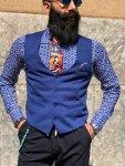 Panciotto uomo blue - Sottogiacca elegante con pochette